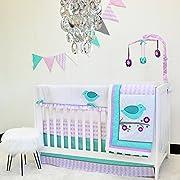 Pam Grace Creations 10 Piece Lovebirds Nursery to Go Crib Bedding Set