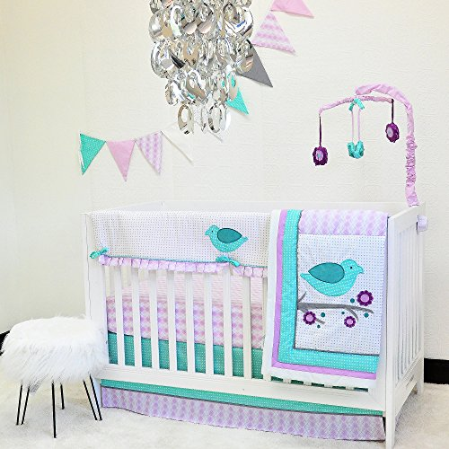Pam Grace Creations 10 Piece Lovebirds Nursery to Go Crib Bedding Set by Pam Grace Creations