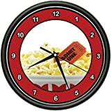POPCORN & MOVIE Wall Clock theater lounge film school decor gift