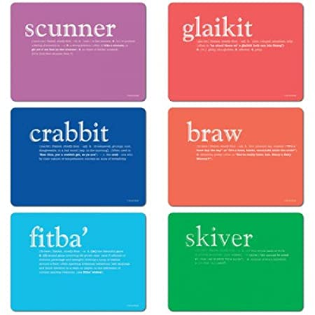 Scottish Dialect U0026 Definition Placemats Tablemats U0026 Coasters ...