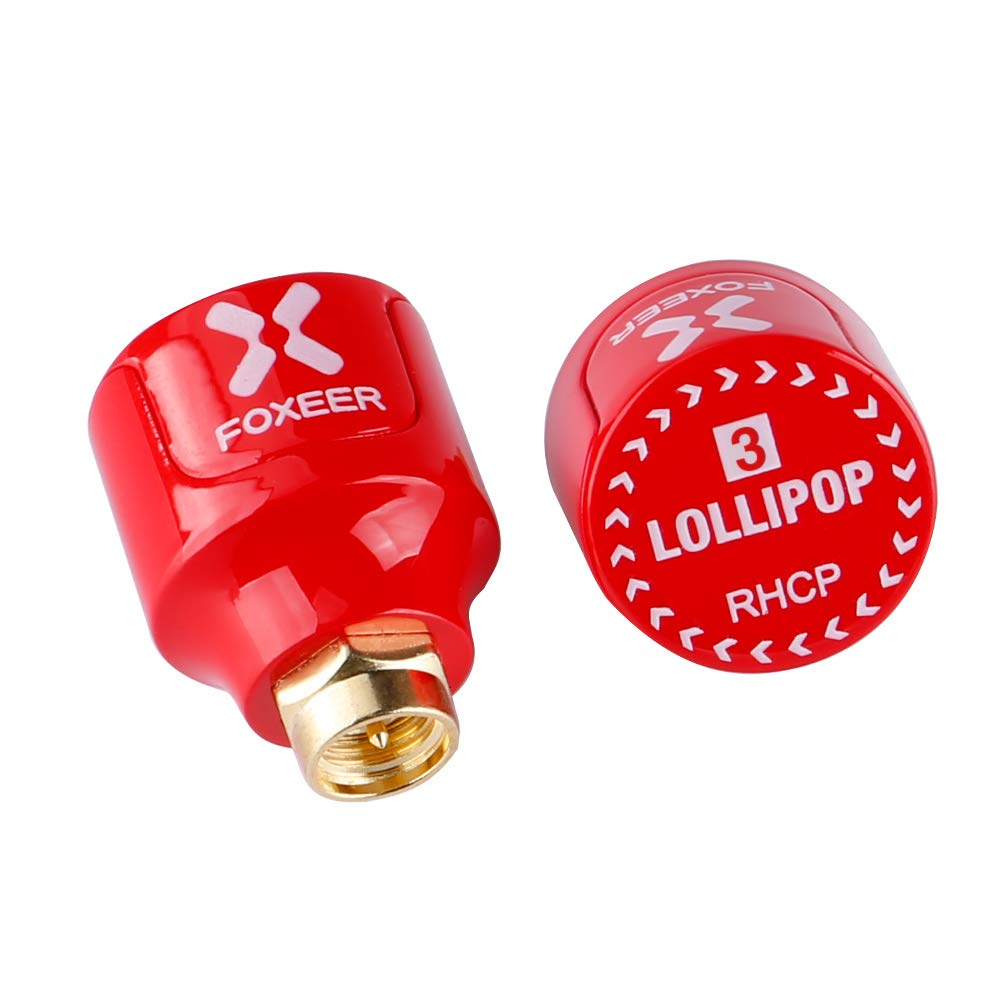 2 piezas Foxeer Lollipop V3 FPV Antena Stubby 5.8G RHCP Antena SMA Macho para RC Drone FPV Quadcopeter Multicopter TX /