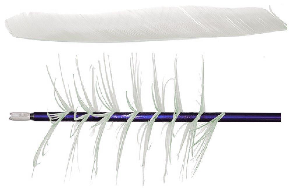 Trueflight Mfg Co Spiral Wrap Feathers Rw Full Length