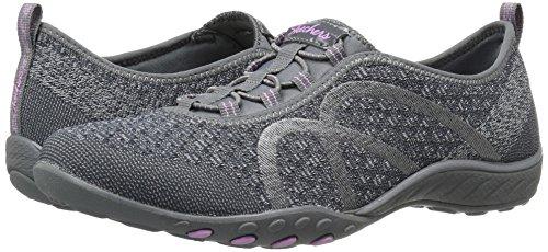 Skechers Sport Women's Breathe Easy Fortune Fashion Sneaker,Charcoal Knit,5.5 M US by Skechers (Image #6)