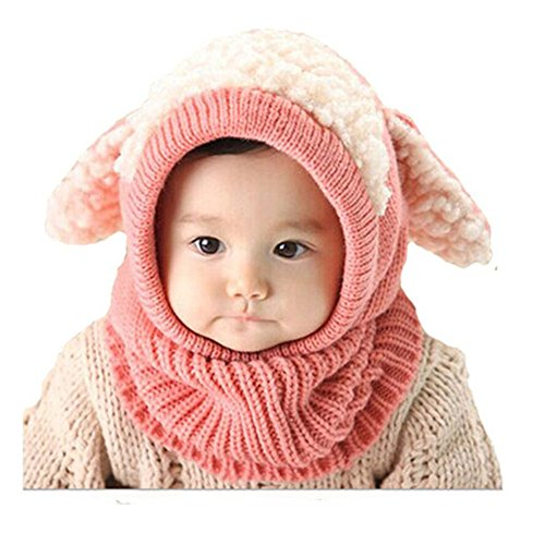 koolee-winter-baby-kids-girls-boys-warm-woolen-coif-hood-scarf-caps-hats-cute-knitted-hat-pink