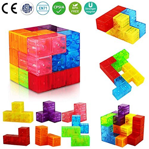 Aitey Magnetic Building Blocks, Magnetic Tiles for Kids Educational Toys Stress Relief Toy Games Square Magnets Cube Develops Intelligence by Aitey