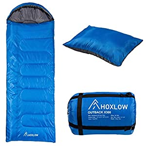 Hoxlow X300 Professional Sleeping Bag Premium Lightweight with Travel Pillow 3-4 Seasons for Camping Outdoor Hiking…