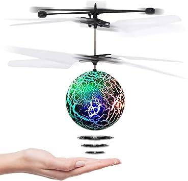 CYKT Juguetes para niños de 3-12 años, Drones Hover Flying Ball ...