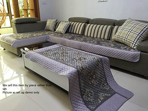 Ofit High Quality Chenille Quilted Sectional Deep Seats Sofa Slipcover Pad Furniture Protector Sold By Piece Rather Than Set (Grey 35x35 ) : deep cushion sectionals - Sectionals, Sofas & Couches