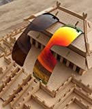2 Pairs Polarized Lenses Replacement for Oakley Oil Rig Sunglasses Brown & Red