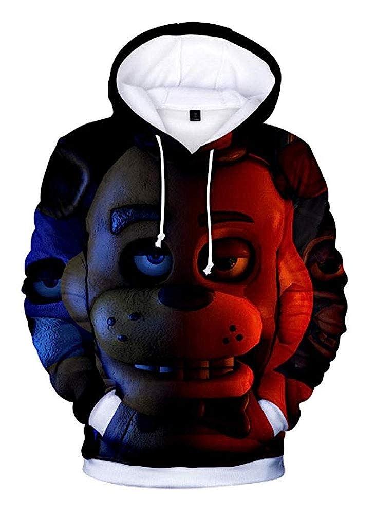 Yunbei Unisex 3D Printed Pullover Hoodie Sweatshirt Jacket Coat Cosplay Costume