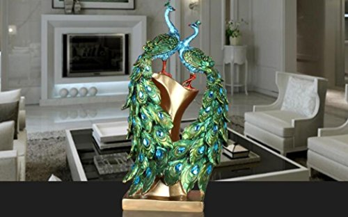 - Home Decoration Resin Phoenix Figurine Crafts Peacock Vase Decor Pure Golden Bird Statue House Office Animal Sculpture Ornament No.4