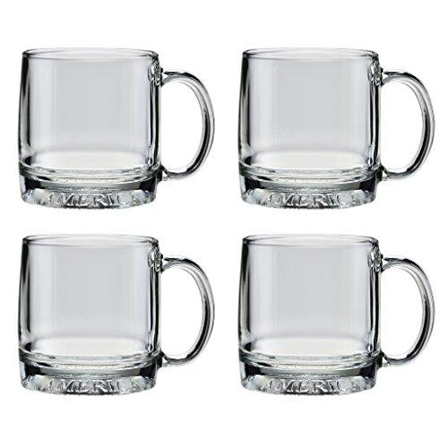 Culver Mug America Glass Mug, Made in the USA, Patriotic American Eagle Design, (Set of 4 Mugs, 12-Ounce)]()