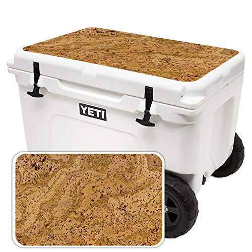 (MightySkins Skin for Yeti Tundra Haul Cooler Lid - Cork | Protective, Durable, and Unique Vinyl Decal wrap Cover | Easy to Apply, Remove, and Change Styles | Made in The USA)