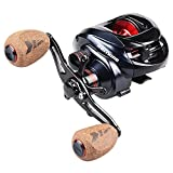 KastKing Spartacus Plus Baitcasting Reel Ultra Smooth 17.5 LB Carbon Fiber Drag, 11 + 1 Shielded Ball Bearings, Rubber Cork Handle Knobs
