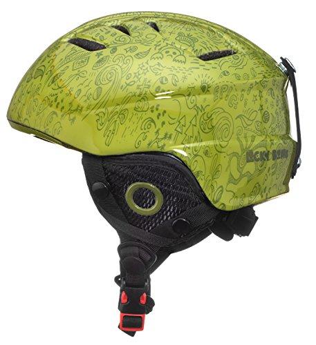 Lucky Bums Toddler Kids Alpine Doodlebug Ski Snowboard Sport Helmet, Green, - Snowboard Alpine And Ski