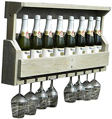 Moderno Portabottiglie Vino Da Parete Design.Nmdd Portabottiglie Da Parete In Legno Di Pino Montato A Parete