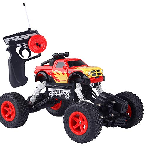 Hisoul RC Car Toys for Kids Age 8 1:22 2.4GHZ 4WD Radio Remote Control Truck Rechargeable Climbing Crawler Off-Road RC Car for Children Best RC Car Gift (red)