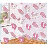 Amscan Baby Girl decoraciones de cuerdas Pink Hanging Baby Shower Ideas Fiesta Celebraciones