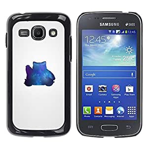 TaiTech / Prima Delgada SLIM Casa Carcasa Funda Case Bandera Cover Armor Shell PC / Aliminium - Azul Pekemon - Samsung Galaxy Ace 3