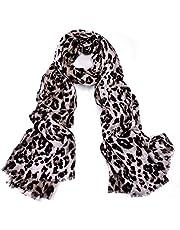 Scarfs for Women Ladies Lightweight Floral Animal Print Leopard Zebra Fashion Scarves Wrap Shawl (20-Leopard)