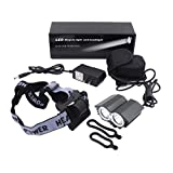Minsk 2 in 1 Headlight Cree 6000 Lumens XML T6 LED Bicycle Light Bike Lamp+ Battery Pack & Charger,3 Modes,Change into Headlamp (black)
