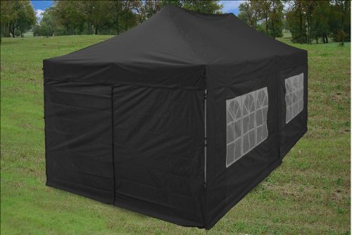 Amazon.com  10u0027x20u0027 Ez Pop up Canopy Party Tent Instant Gazebos 100% Waterproof Top with 6 Removable Sides Black - E Model By DELTA Canopies  Outdoor ... & Amazon.com : 10u0027x20u0027 Ez Pop up Canopy Party Tent Instant Gazebos ...
