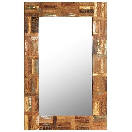 Specchio Da Parete Grande Con Cornice.Fesjoy Specchio Con Cornice In Legno Rigenerato Specchio Da Parete