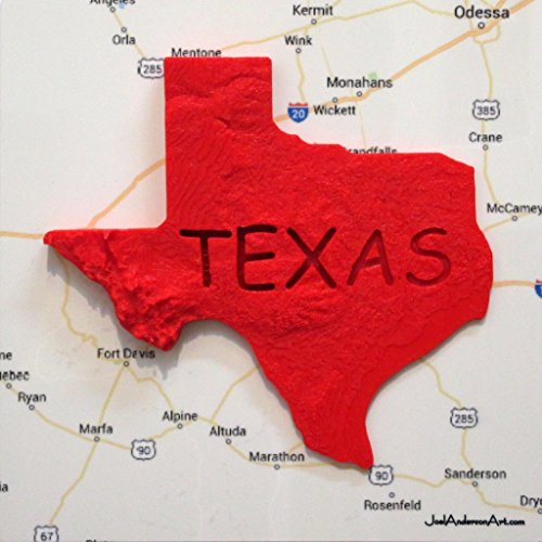 3D Texas Elevation Map over West Texas 8
