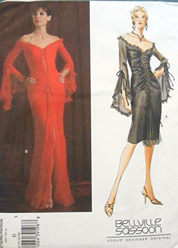 bellville-sassoon-vogue-designer-original-sewing-pattern-v-2848-flounced-sleeve-misses-dress-sizes-1