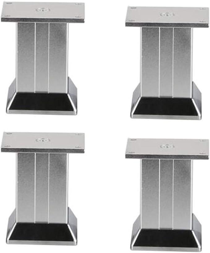 Patas De Soporte para Muebles - Patas De Muebles Sofá Patas De Mesa De Centro, AleacióN De Aluminio, Arena Plateada, Altura 7.5 \ 9.5 Cm (Juego De 4): Amazon.es: Hogar