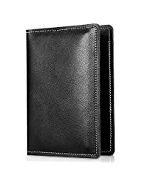 Genuine Leather Passport Cover Holder, ProCase Premium Quality Passport Case Travel Wallet for Passports, Cards and Cash -Black