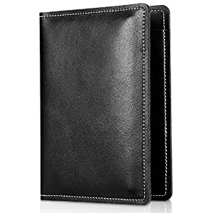 ProCase Genuine Leather Passport Cover Holder Travel Passport Case –Black