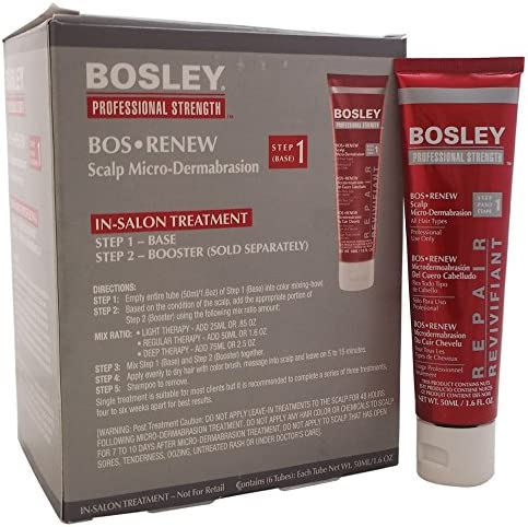 Bosley Professional Strength Bos Renew Scalp Micro-Dermabrasion Base - Step 1 (For All Hair Types) 6x50ml: Amazon.es: Belleza