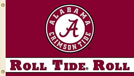 promo code 3756b db592 NCAA Alabama Crimson Tide 3-by-5 Foot  quot Roll Tide quot  Flag