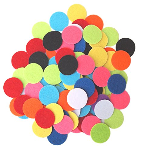 Playfully Ever After 1 inch Mixed Color Assortment 100pc Felt Circle Stickers