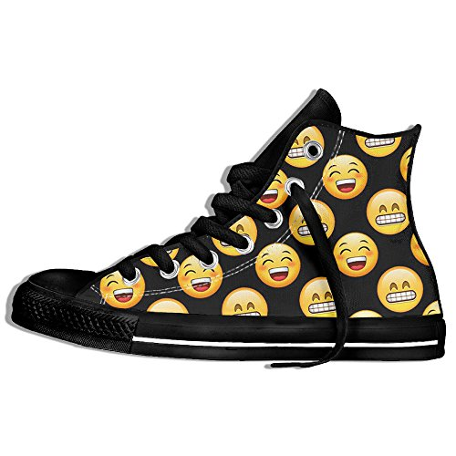 Emoji Lace Canvas Shoes
