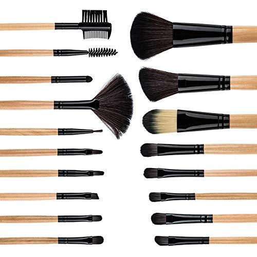 AMASAVA Makeup Brush Set, 18 Pieces Make Up Brushes + Makeup Sponge + Brushes Washing Egg Synthetic Foundation Blending Concealer Face Powder Blush Eyeshadow Make Up Brush Set Kits Black