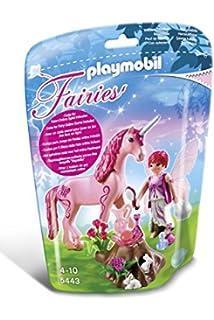 playmobil 5443 figurine fe coquette avec licorne rose