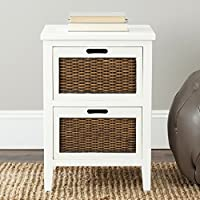 Safavieh American Homes Collection Jonah White 2-Drawer End Table