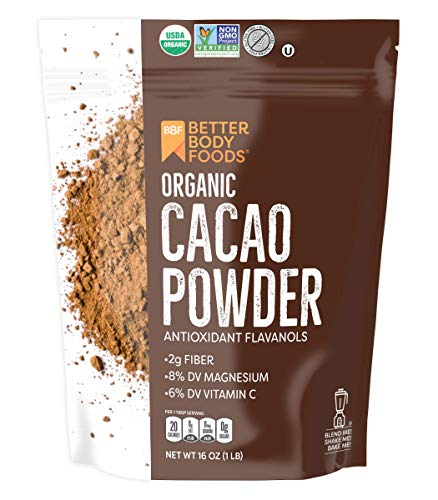 Organic Cacao Powder, Non-GMO, Gluten-Free Raw Superfood
