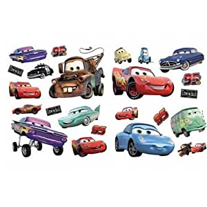 Decorative wall stickers cars disney cars room decor for Cars wall mural sticker