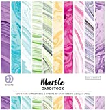 """ColorBok 71876B Cardstock Paper Pad Marble, 12"""" x"""