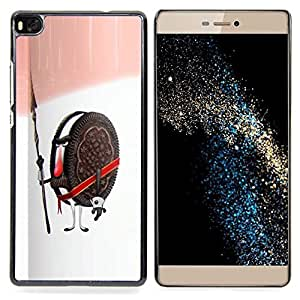 - Cookie Guardian Warrior Soldier Sweets Sugar - - Snap-On Rugged Hard Cover Case Funny HouseFOR HUAWEI P8