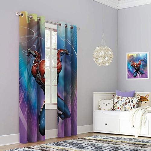 Kitchen Window Curtains Clayton Crain Spider Geddon Set of 2 Panels W72 x L84 Inch