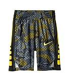 Nike Boy's Dry Elite Camo Print Basketball Shorts (Amarillo/Black, Small)
