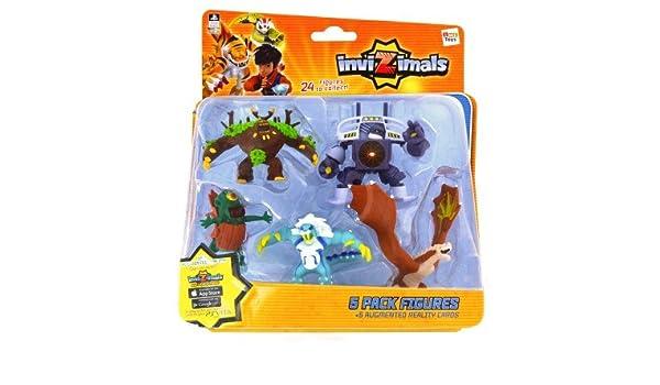 IMC Toys 30039 - Pack 5 Figuras Invizimals - JUNGLEUS ...