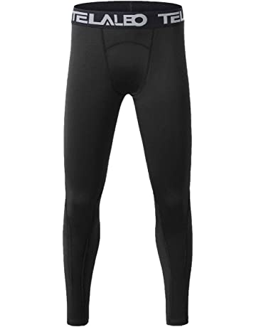 a33b467ba TELALEO Boys' Youth Compression Base Layer Pants Tight Running Leggings  Trousers