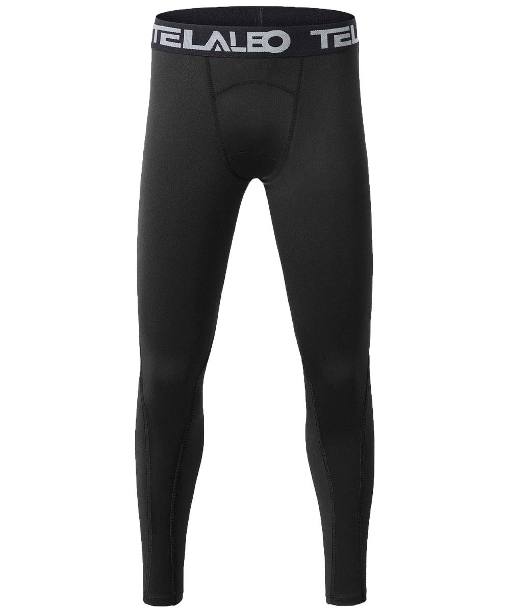 TELALEO Boys' Youth Compression Base Layer Pants Tight Running Leggings Trousers 1PCS -S by TELALEO