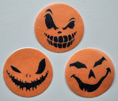 Scary Pumpkin Edible Wafer Paper Oreo Cake Pop Toppers by MAKCreationsCakeSupply ~ 30 Pre Cut Wafer Paper 1 1/2