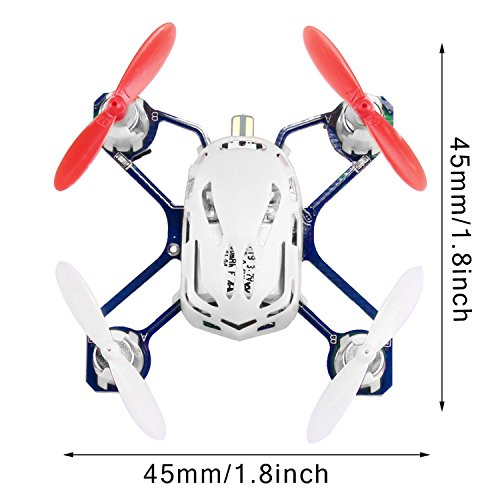 51zw7tjKrRL COOCHEER Hubsan H111 Q4 Nano 4-Channel 6 Axis Gyro RC Mini Drone Quadcopter with 2.4Ghz Radio System Mode 2 RTF for Kids (White)